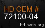 hd 72100-04 genuine part number