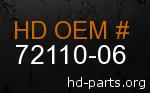hd 72110-06 genuine part number
