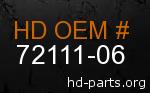 hd 72111-06 genuine part number