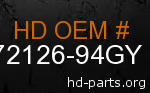 hd 72126-94GY genuine part number