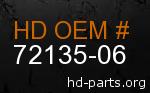 hd 72135-06 genuine part number