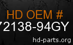 hd 72138-94GY genuine part number