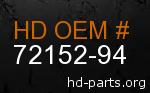 hd 72152-94 genuine part number