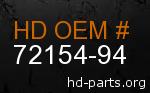 hd 72154-94 genuine part number