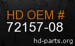 hd 72157-08 genuine part number