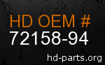 hd 72158-94 genuine part number