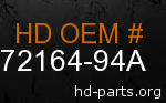 hd 72164-94A genuine part number