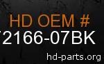 hd 72166-07BK genuine part number