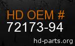 hd 72173-94 genuine part number