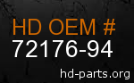 hd 72176-94 genuine part number