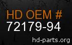 hd 72179-94 genuine part number