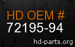 hd 72195-94 genuine part number