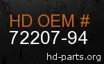 hd 72207-94 genuine part number