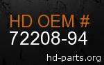 hd 72208-94 genuine part number
