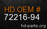 hd 72216-94 genuine part number