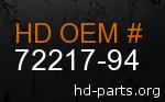 hd 72217-94 genuine part number