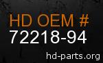 hd 72218-94 genuine part number