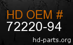hd 72220-94 genuine part number
