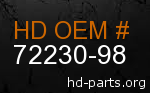 hd 72230-98 genuine part number