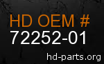 hd 72252-01 genuine part number