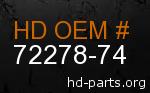 hd 72278-74 genuine part number