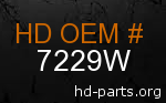 hd 7229W genuine part number