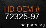 hd 72325-97 genuine part number