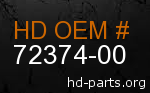 hd 72374-00 genuine part number