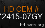hd 72415-07GY genuine part number