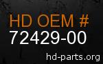 hd 72429-00 genuine part number