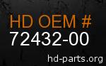 hd 72432-00 genuine part number