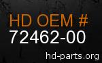 hd 72462-00 genuine part number