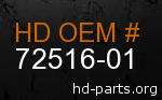 hd 72516-01 genuine part number
