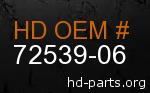 hd 72539-06 genuine part number