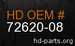 hd 72620-08 genuine part number