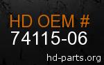 hd 74115-06 genuine part number