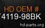 hd 74119-98BK genuine part number