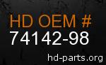 hd 74142-98 genuine part number