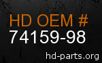 hd 74159-98 genuine part number