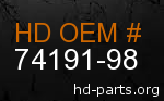 hd 74191-98 genuine part number