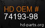hd 74193-98 genuine part number