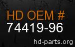 hd 74419-96 genuine part number