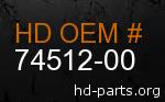 hd 74512-00 genuine part number