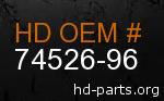 hd 74526-96 genuine part number