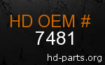 hd 7481 genuine part number
