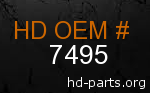 hd 7495 genuine part number