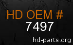 hd 7497 genuine part number