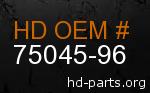 hd 75045-96 genuine part number