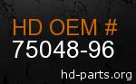hd 75048-96 genuine part number