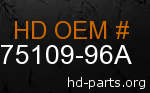 hd 75109-96A genuine part number